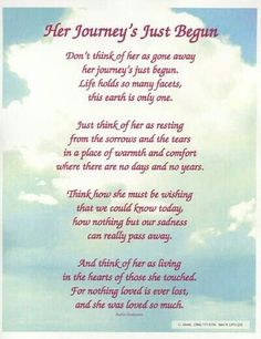 I read this years ago at my grandmothers funeral.