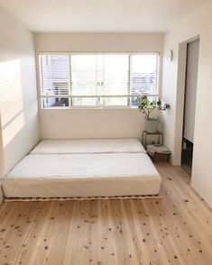 "The bedroom is refreshing Nitori ""Snoco bed that folded and futon dr … - Modern Bedroom Apartment, Home Decor Bedroom, Bedroom Furniture, Home Furniture, Diy Home Decor, Diy Bedroom, Apartment Ideas, Furniture Ideas, Japanese Home Decor"