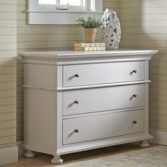 Birch Lane Dobson Dresser now one sale $549 free shipping ~ change out knobs to the gold ring pulls....