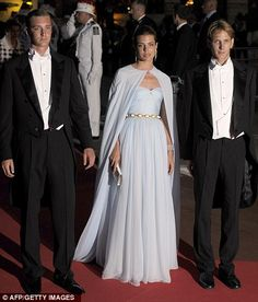 Gracious grandchildren: Siblings Andrea, Charlotte and Pierre Andrea Casiraghi are the grandchildren of Grace Kelly