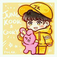 2 from the story BTS Cartoon Photos [Fanart] by ARMYZalsa (Zalsa) with reads. Bts Jungkook, Jungkook Fanart, Kpop Fanart, Bts Chibi, Foto Bts, Cartoon Photo, Bts Drawings, Bts Fans, Bts Lockscreen