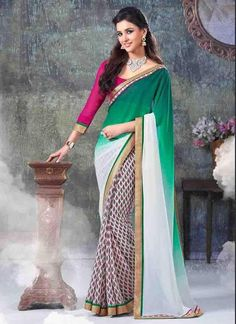 Buy 1 Get 1 Free Designer Partywear Ethnic Dress Bollywood Sari Indian #Tanishifashion