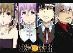Maka, Crona, Death the Kid, and Soul.