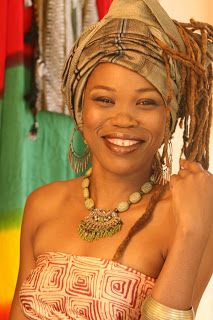 The reggae woman singer Queen Ifrica