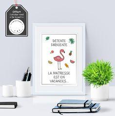 A4 - Affiche papier - Collection Ecole - Cadeau, maîtresse ,maître,école, avs, atsem, crêche ,enfant, cadeau, fin d'année #school #children #gift #teacher