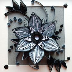 flower loneliness by ~othewhitewizard on deviantART I love black and white quilling