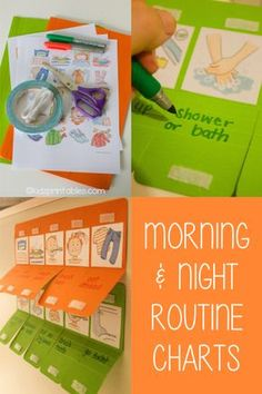Charts For Kids Routine Morning Routine Chart, Daily Routine Chart, Night Routine, Morning Routine Kids, Toddler Activities, Learning Activities, Kids Learning, Kinder Routine-chart, Education Positive