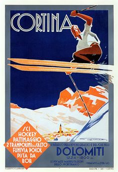The Dolomites and Franz Lenhart's posters. www.italianways.com/the-dolomites-and-franz-lenharts-snow/