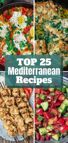 Give your meals a bright, flavor-packed Mediterranean twist! These top 25 wholesome Mediterranean recipes from the experts at The Mediterranean Dish. Flavors from Greece to Morocco, the Middle East & more! And feel-good recipes that will have you com Easy Mediterranean Diet Recipes, Mediterranean Spices, Clean Eating, Healthy Eating, Cooking Recipes, Healthy Recipes, Good Recipes, Skillet Recipes, Greek Recipes