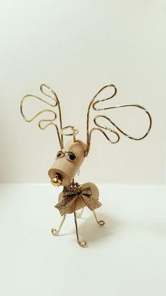 Personalized Wine Cork Gift Handmade Reindeer Wine by CorkyFriendz