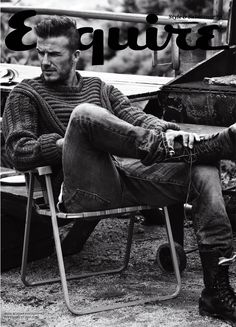 David Beckham shot by Josh Olins for Esquire UK | September 2012