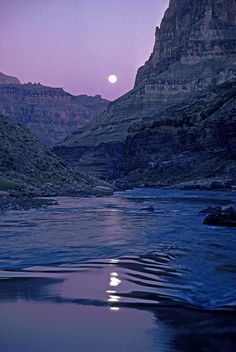 Moonlight on Colorado River, Grand Canyon National Park, Arizona