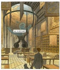 I love François Schuiten's art - he obviously loves libraries