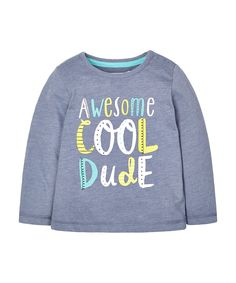 Awesome, Cool Dude Slogan T-Shirt