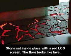 Would make an interesting floor.