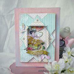 I LOVE this peek-a-boo card!  by Brenda Walton