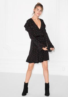 & Other Stories | Frill Wrap Dress