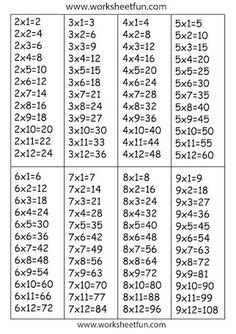 free printable multiplication worksheets worksheets