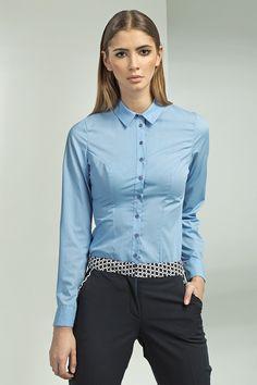 Klasyczna+koszula+z+długim+rękawem+k43+-+niebieski+w+NIFE+Fashion+na+DaWanda.com