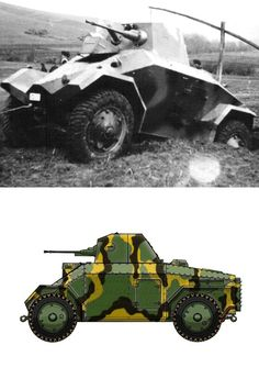 Csaba Armoured Car Armoured Personnel Carrier, Camouflage Patterns, Tank Destroyer, Engin, Austro Hungarian, Armored Fighting Vehicle, Ww2 Tanks, Armored Vehicles, War Machine