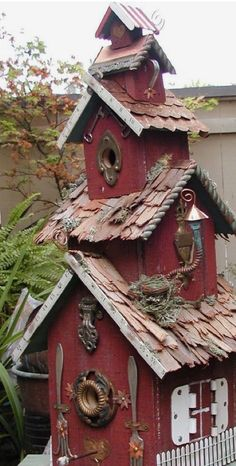Big rustic birdhouse