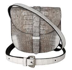 Zink Collection - Mini Gypsy Crossbody - Natural and White Crocodile , $1,395 (http://www.zinkcollection.com/mini-gypsy-crossbody-natural-and-white-crocodile/)