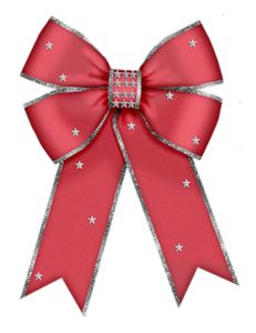 CHRISTMAS RED BOW CLIP ART