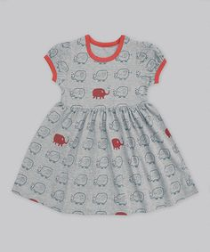 Look what I found on #zulily! Heather Navy & Red Elephant Alice Dress - Infant & Toddler #zulilyfinds