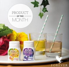 Boost your beverage! Joost is a supplement that is rich in the vitamins C, and folic acid – but it's also full of berrylicious flavor of blueberry and acai with a refreshing touch of lemon. Aloe Vera, Forever Business, Forever Aloe, Forever Living Products, Folic Acid, Vitamin C, Blueberry, Health And Beauty, Beverages