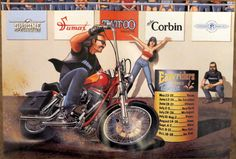 David Mann Centerfold Poster Easy Rider April 1992 Biker Art | eBay