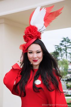 8bbfc9b48f06 Bespoke Hats Fascinators by YUAN LI LONDON Millinery. Royal Ascot ladies  day 2017. Bespoke