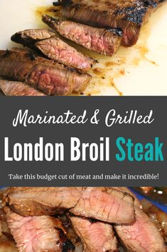 Learn how to cook London Broil steak. This London Broil steak recipe will transform your opinion on this budget friendly cut of meat. The marinade is incredible and the grilling technique seals the deal. This London Broil recipe will b London Broil Grill Recipes, London Broil Steak, Grilled London Broil, Cooking London Broil, Marinade For London Broil, Recipe For London Broil, Italian Dressing Recipes, Homemade Italian Dressing, Steak Recipes