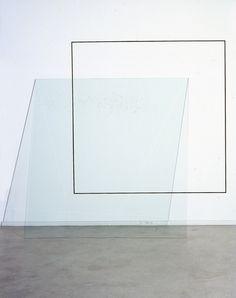 Jose Dávila -Shadow Over Line, 2012, glass, acrylic paint