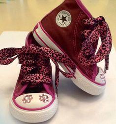 Converse toddler girl shoes. $25.00, via Etsy.