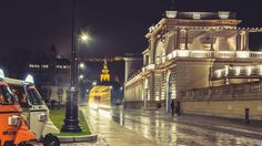 Budapest, Castle Garden Bazaar, Budapest in the night light