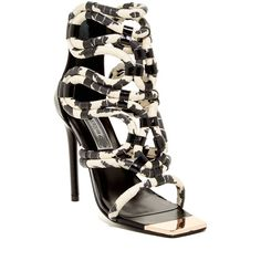 Ivy Kirzhner Venezuela Sandal ($240) ❤ liked on Polyvore featuring shoes, sandals, open toe sandals, woven sandals, metallic high heel shoes, woven shoes and open toe shoes