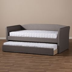 Baxton Studio Kassandra Modern and Contemporary Daybed with Guest Trundle Bed   Overstock.com Shopping - The Best Deals on Beds
