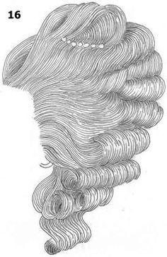 18th century women´s hair
