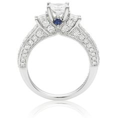 I love the Vera Wang idea of the saphire stone!