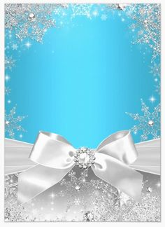 Blue & Silver with snowflakes and a diamond center bow - uploaded by Lynn White