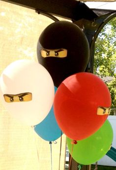 21 Lego Birthday Party Ideas that are simply awesome Love these lego ninjago balloons Ninja Birthday Parties, Birthday Fun, Birthday Party Themes, Children Birthday Party Ideas, 5th Birthday Ideas For Boys, Birthday Celebration, Lego Ninjago, Ninjago Party, Lego Themed Party
