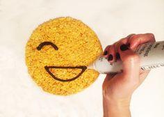Rice Krispies Emoji Treats: Draw the smile