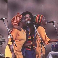 *The I-Threes* & Bob Marley. More fantastic pictures and videos of *Bob… Thomas Bangalter, Tom Morello, Damian Marley, Brian Wilson, The Beach Boys, Daft Punk, Bob Dylan, Sweat Shirt, Jamaica