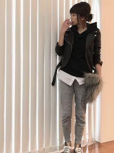 MODE ROBEのライダースジャケットを使ったsayakaのコーディネートです。WEARはモデル・俳優・ショップスタッフなどの着こなしをチェックできるファッションコーディネートサイトです。