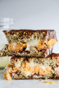 Transform holiday leftovers into this delicious recipe for Sweet Potato Casserole, Brie, and Bacon Grilled Cheese. Friends and family are sure to enjoy the savory flavors.
