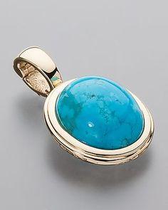 Eleganter Clipanhänger mit Türkis von Sogni d´oro #schmuck #jewelry #Edelsteine…