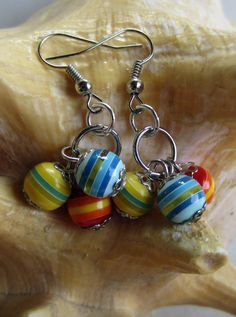 Playful Youth Bead Earrings by designsbypbe on Etsy, $10.00