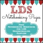 """LDS Notebooking Pages on Teachers Pay Teachers... and it's all FREE!  """"All thy children shall be taught of the Lord; and great shall be the peace of thy children"""" 3 Nephi 22:13..."""
