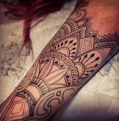 Linework tattoo by Philip Milic