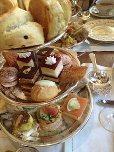 High tea goodies.